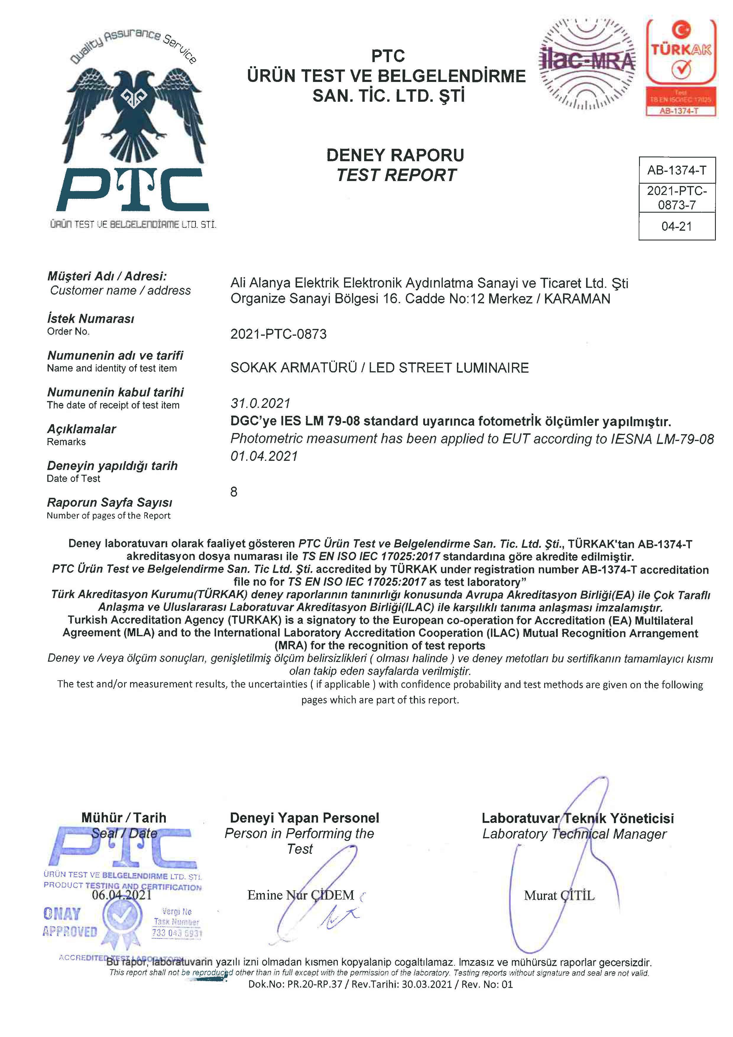 SMARTSTREET LM79_08 TEST
