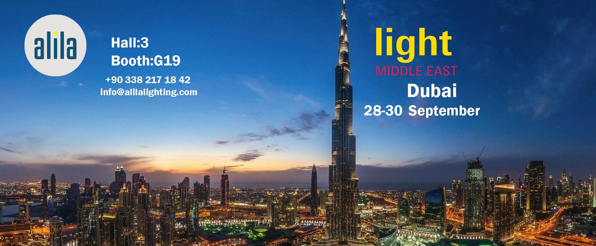 28-30 Eylül Light Middle East Fuarındayız.